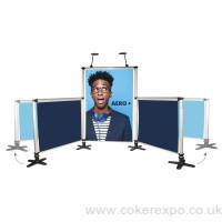 Aero Plus banner system 3 displays