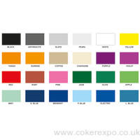 Exhibition cord carpets, bright exhibition colours.