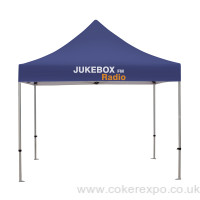 Event tents with printed branding