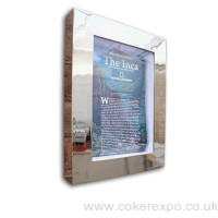 Stainless Steel Menu Case Illuminated