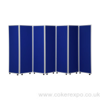 Wheeled concertina dividers for offices and schools
