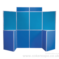 10 Panel folding display board with 2 table tops.