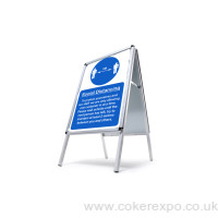 social distancing Pavement sign A-Boards with Covid-19 messages