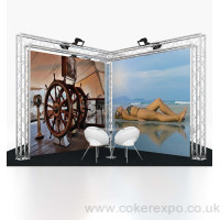 Quad aluminium exhibition gantry