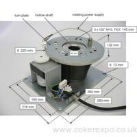 Heavy duty rotating drive motor