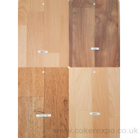 Vinyl flooring colour swatch for events