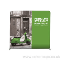 Formulate straight fabric display stand