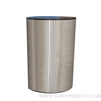 Round aluminium finish display plinth