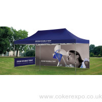 Branded tents for spring and summer shows