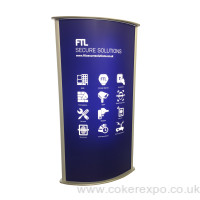 Double sided illuminated totem display light box