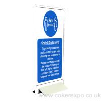 Double sided Coronavirus warning sign board