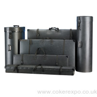 A range of polypropylene packing cases in black