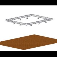 Quad aluminium lighting truss for aerial lighting rigs