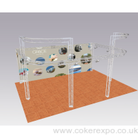 2 tier display truss system with curves