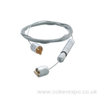 4m wire cable with tension fixing ends and channel toggles