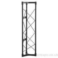 1 Metre section Black Steel Exhibition Gantry