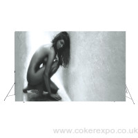 Giant back drop banner stand up to 3.5M high and 4.7 metres wide