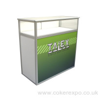 CDC12D Aluminium folding counter  perspex glazed display top
