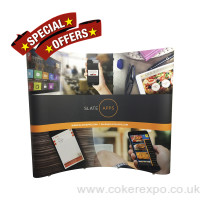 Special offer 3 x 3 curved pop up display stand