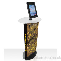 POS Ipad Display Stand with graphic sign.