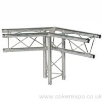 120 degree lighting truss junction with leg