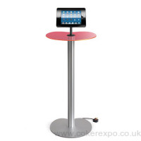 Ipad podium display stand with acrylic display counter top.