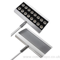 Linking wall flood light for exhibitions and shows