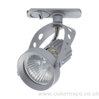 Clanzia track light in silver colour