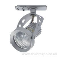 Clanzia track light in silver colour