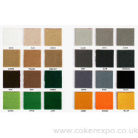 Tufted pile carpets plain colours for exhibitions