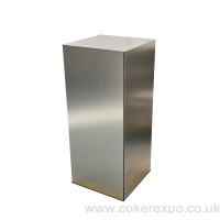 Folding plinth brushed aluminium