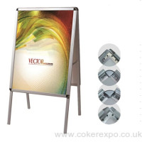 A1 pavement sign in aluminium, double sided display