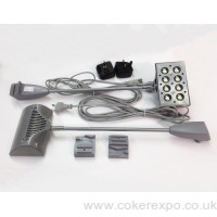 Pop up display lights, 20w output, silver grey colour