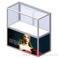 CDC12C Aluminium folding counter  Perspex Top