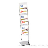 Presenter A4 literature rack