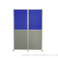 8 Panel Pole display stand in portrait orientation