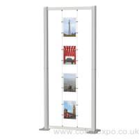 A4 portrait freestanding display stand