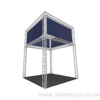 2 tier exhibition stand rental