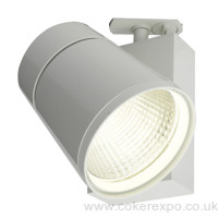 42w Led track light fitting in white