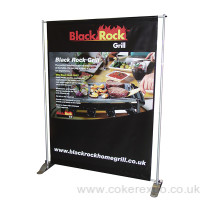 A pegasus banner stand with pvc banner graphic