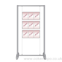 Triple 3X A4 cable display stand