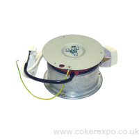 Mains powered ceiling mounted hanging turntable