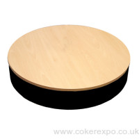 Electric turntable display stand with 650mm diameter deck.