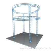 2 Tier Circular Exhibition Gantry
