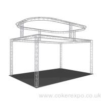 2 tier exhibition lighting truss system
