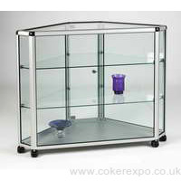 Corner display counter for glass counter range Silver or Black finish