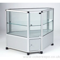 Alpha glass corner cabinet