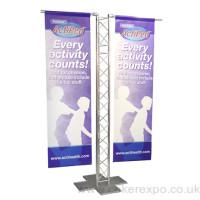 Gantry banner stand frame