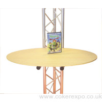 Exhibition gantry table or shelf accessory