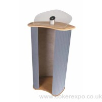 Portable lectern for public speaking at conferences.